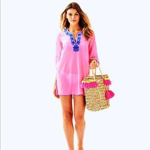 Lilly Pulitzer Piet Tunic Cover Up L